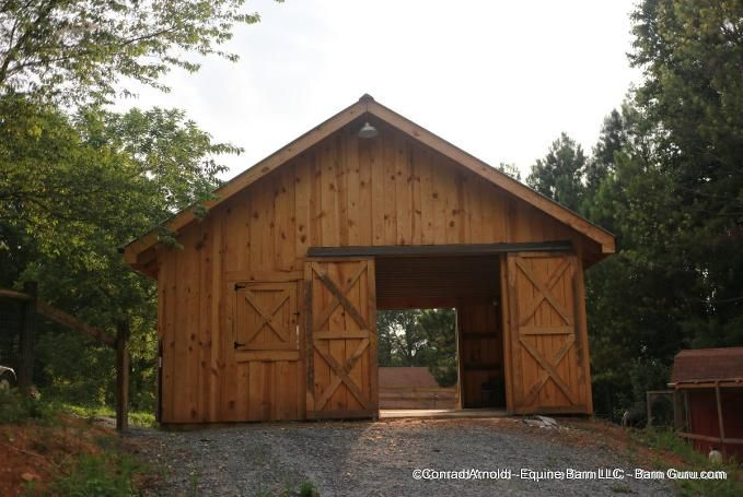 Low Cost 2 Stall Horse Barn Option … | Small horse barns