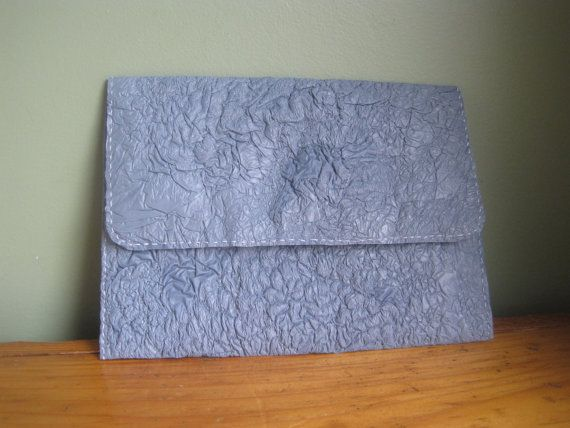 Upcycled Clutch - Made from fused plastic bags