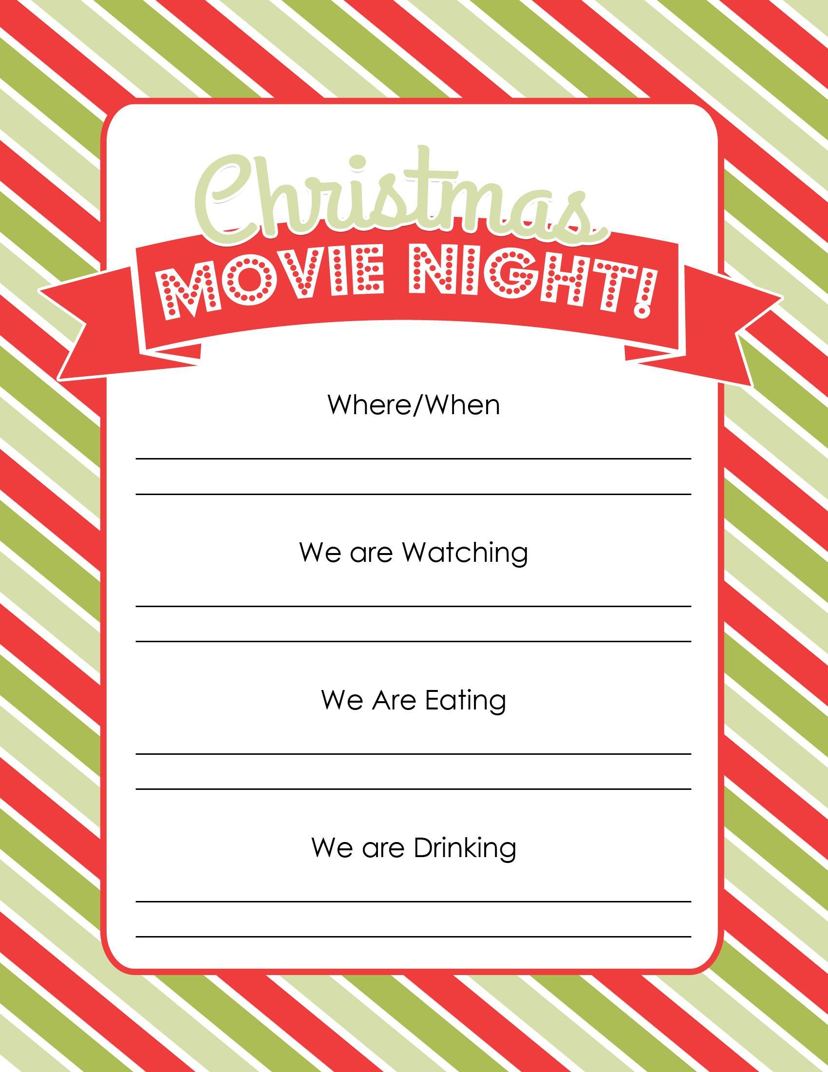 Christmas Movie Night Christmas movie night, Christmas