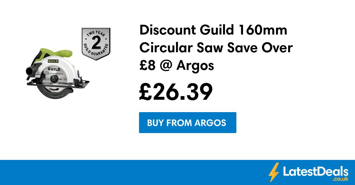 Discount Guild 160mm Circular Saw Save Over £8 @ Argos