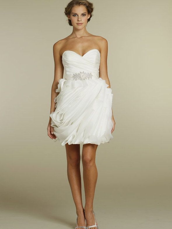 Sweetheart Short Wedding Dress