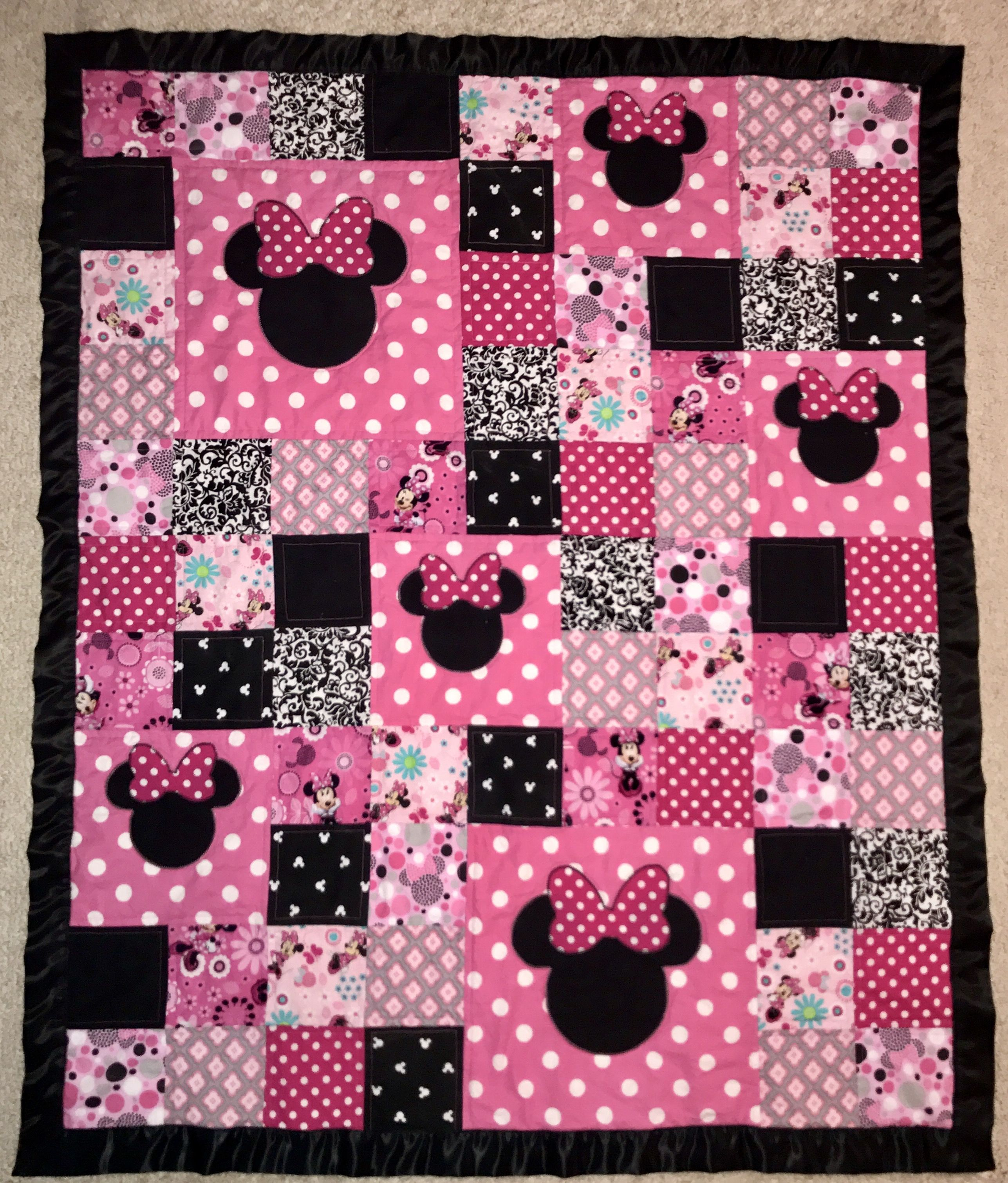 Minnie Mouse Quilt Mickey Mouse Quilt Disney Quilt Baby Quilt Patterns