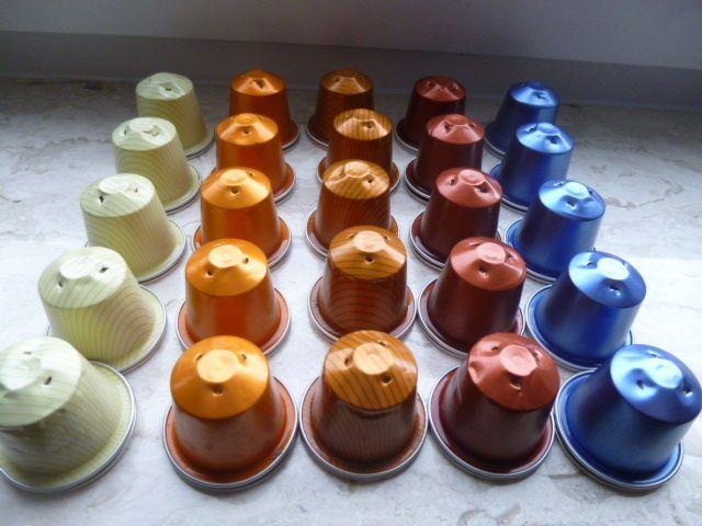 50 leere Nespresso Kapseln, verschiedene Farben, Basteln,Schmuck,Dekorationsparen25.com , sparen25.de ,sparen25.info