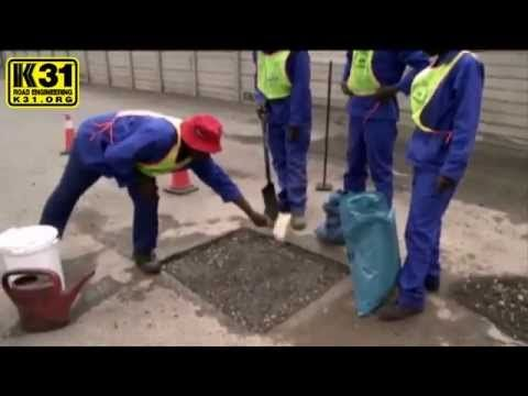 Low Cost Pothole Repair In Zambia And Dr Congo Dr Congo Repair Congo