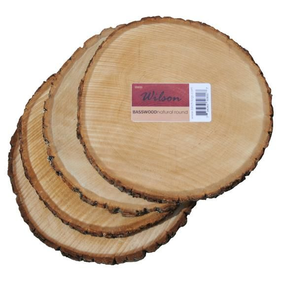 Natural Basswood Round (4 pack ) Unsanded #thanksgivingtablesettings