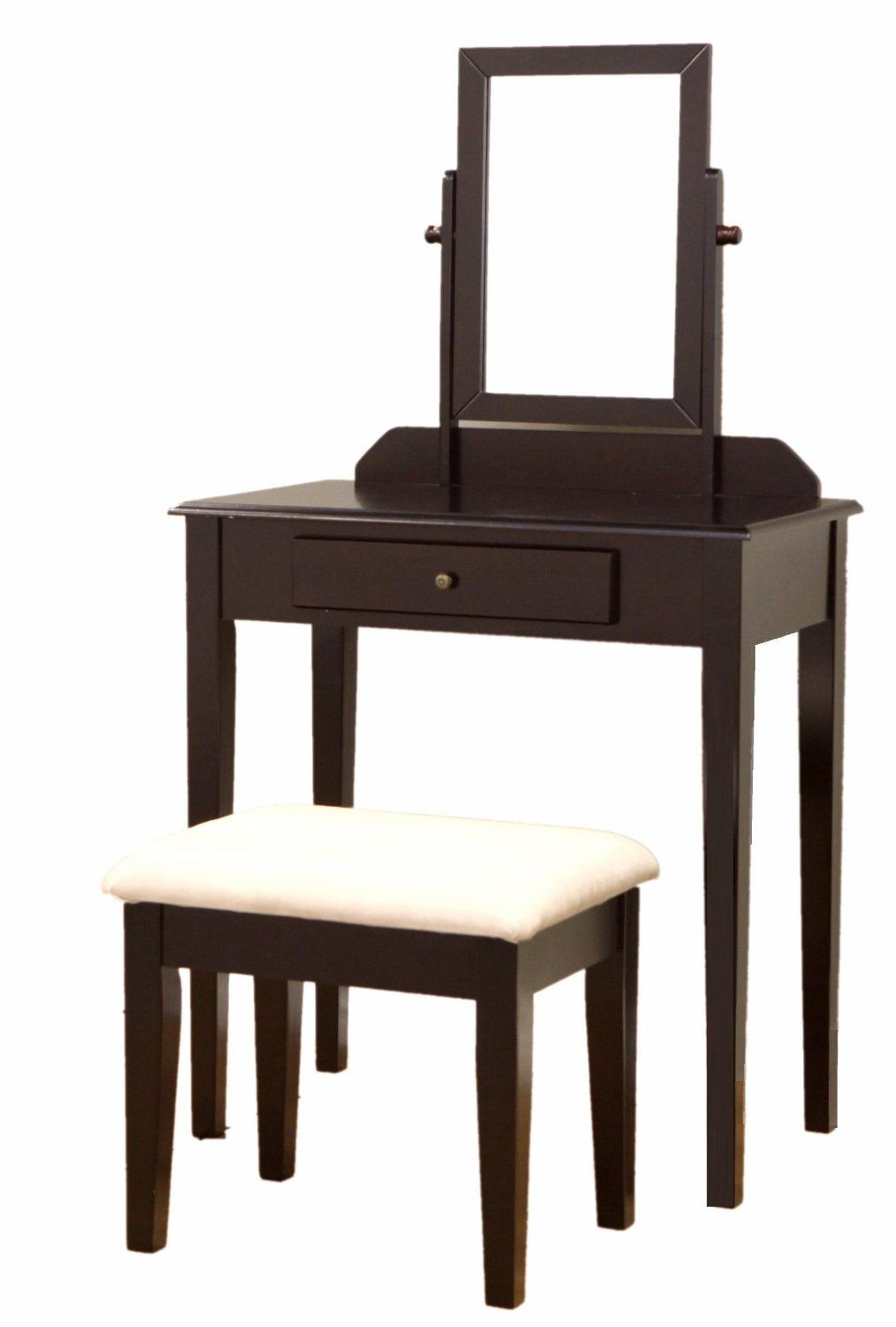 Frenchi furniture wood pc vanity set in espresso finish