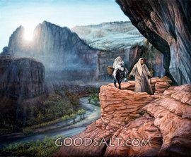María y José en su viaje