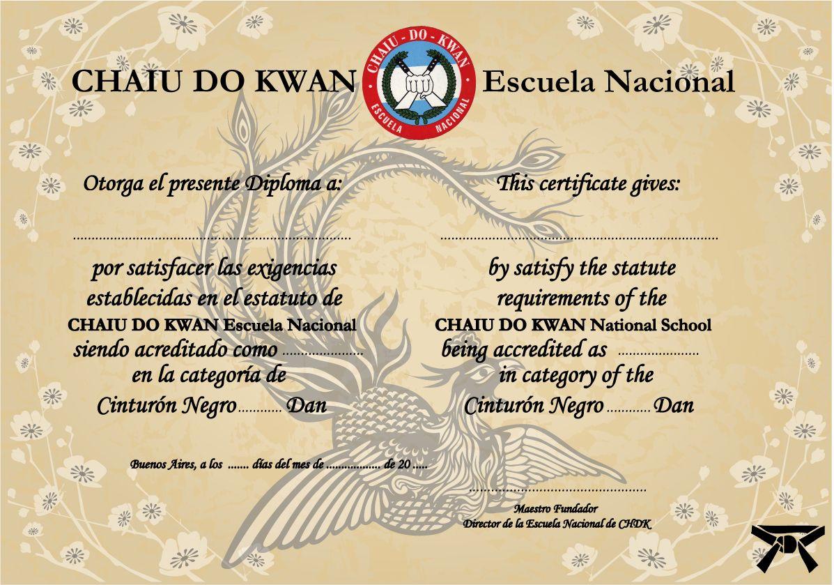 Diploma realizado para Escuela de Artes Marciales | Luis Escalona ...