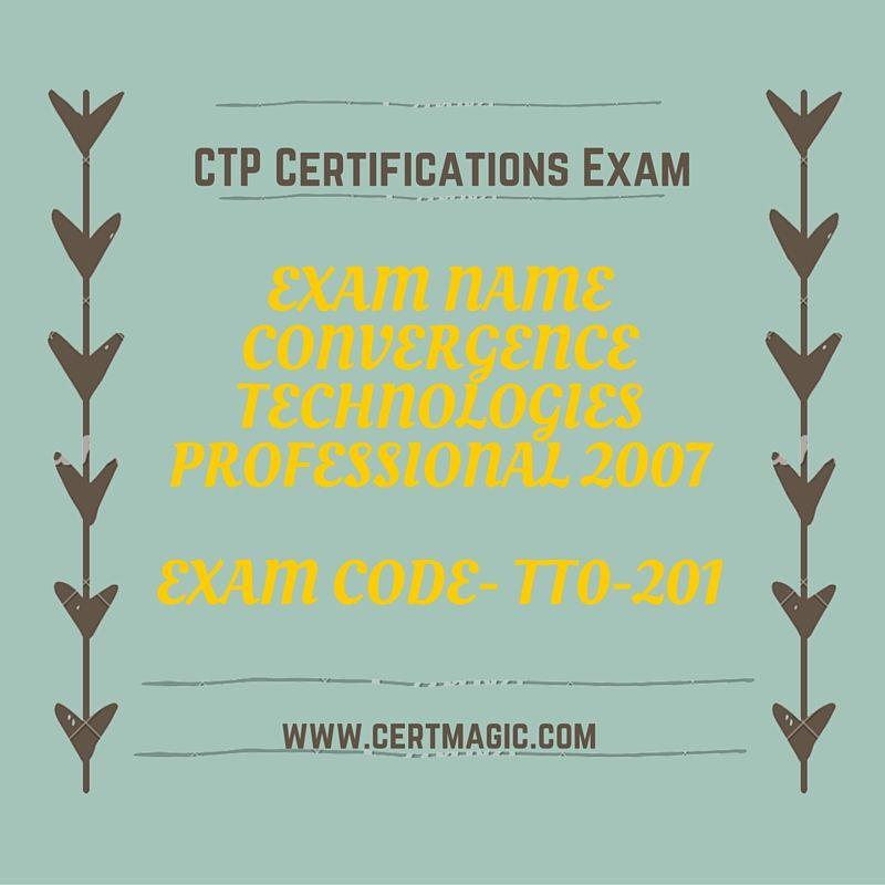 Exam Name Convergence Technologies Professional 2007 Exam Code
