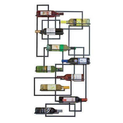 Brayden Studio Haviland 10 Bottle Wall Mounted Wine Rack