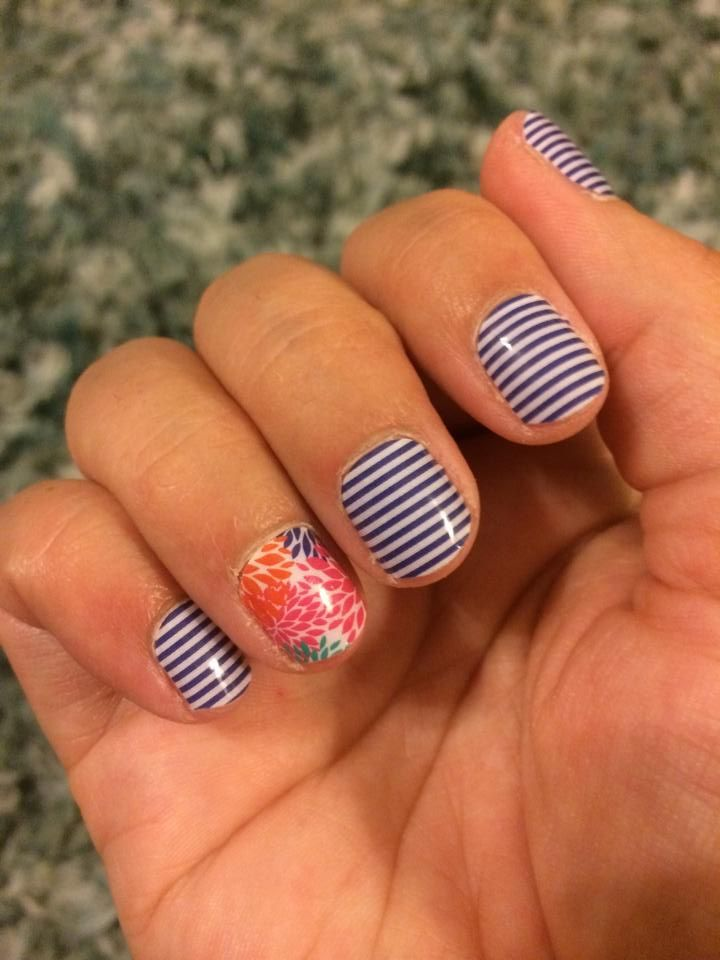 Navy Skinny & Punchy Puff Jamberry Nail Wraps. Non-toxic, heat ...