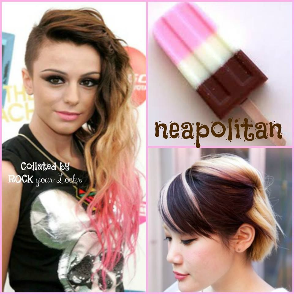 Neapolitan Hair Colour Inspiration - Chocolate, Blonde and Pink ...