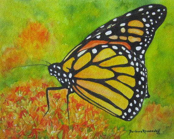 Butterfly Print, Butterfly Painting, Butterfly Nursery Decor ...
