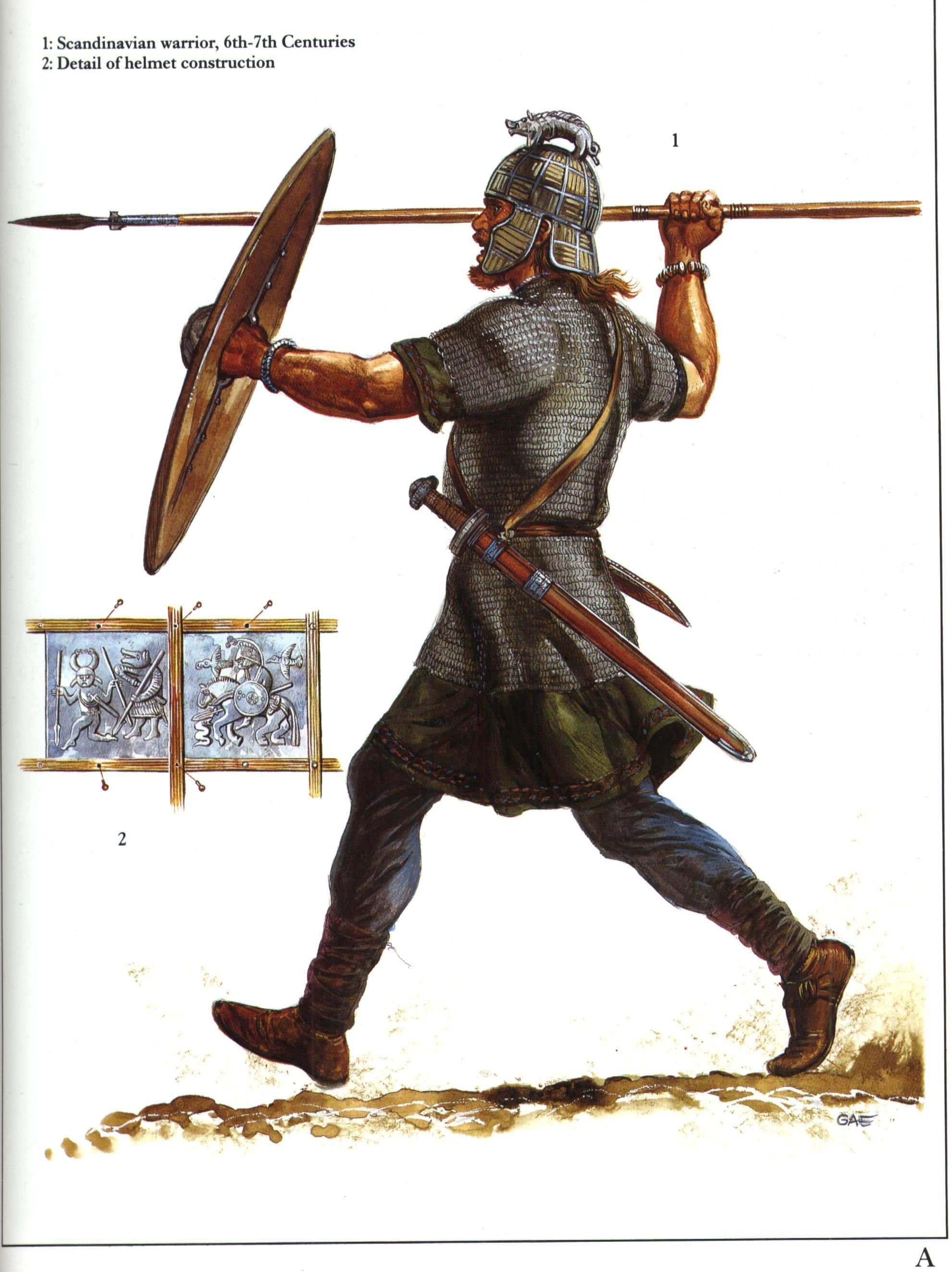 Scandinavian Warrior 6th 7th Century Ancient Warfare Anglo Saxon Early Middle Ages