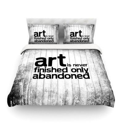 KESS InHouse Art Never Finished Featherweight Duvet Cover Size: