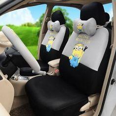 ON SALE Despicable Me Minions Car Seat Covers Accessories Set 18pcs TL15 77H