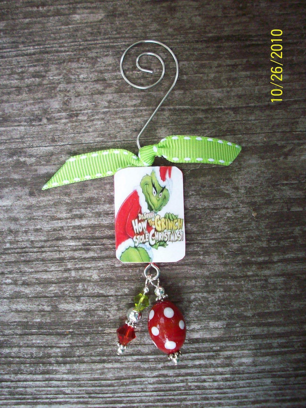 Cheryl S Crafty Jewelry Grinch Christmas Ornament Grinch Christmas Grinch Ornaments Christmas Crafts