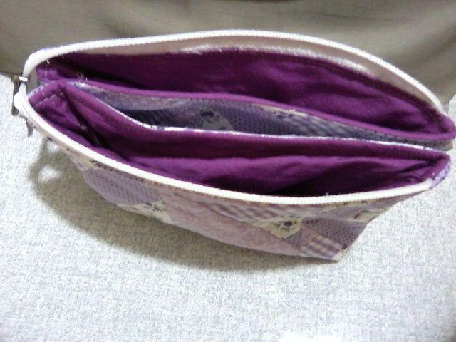 necessaire dupla,com um só ziper(por dentro) | Clutch patterns ...