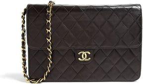Chanel Black Leather Quilted Shoulder Bag