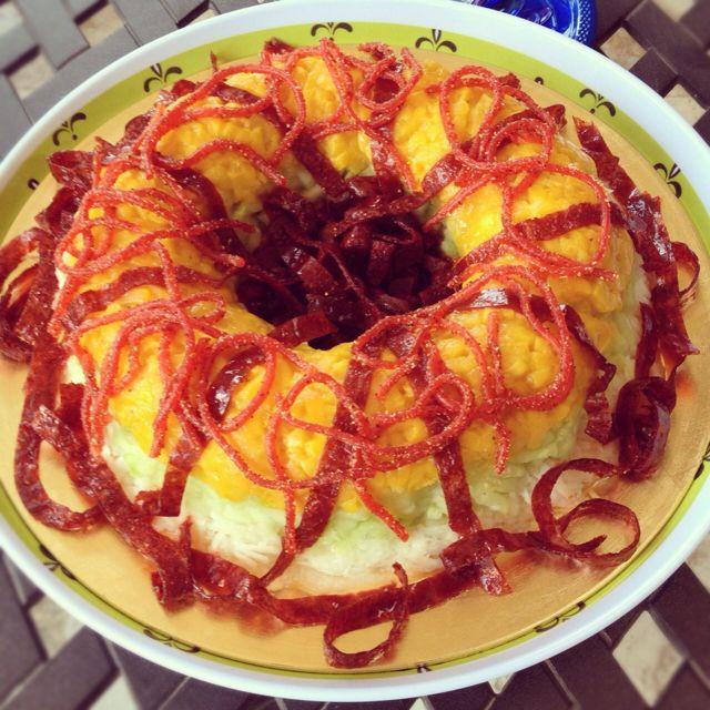 Rosca De Jicama, Pepino, Mango, Dulce Chamoy, Y Salsa De