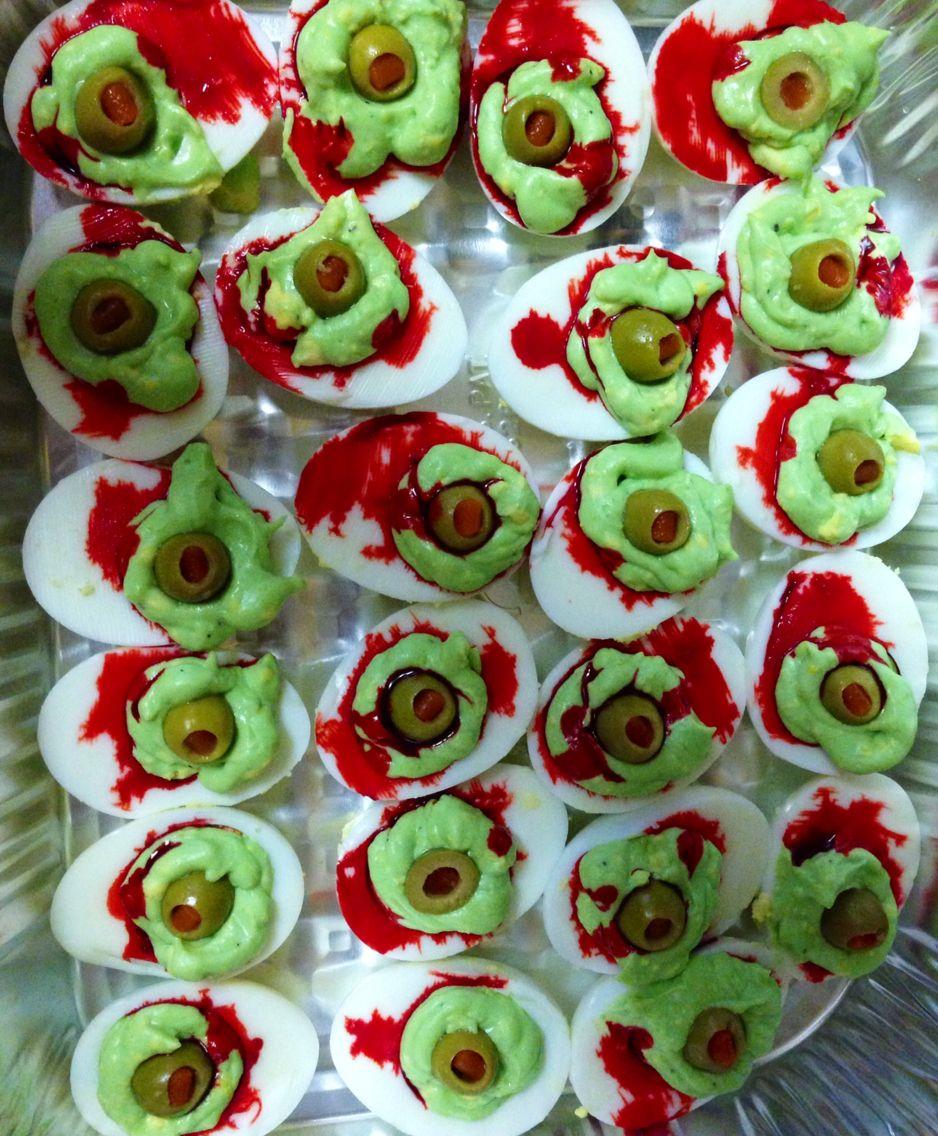 halloween zombie eyes deviledeggs Deviled eggs, Food