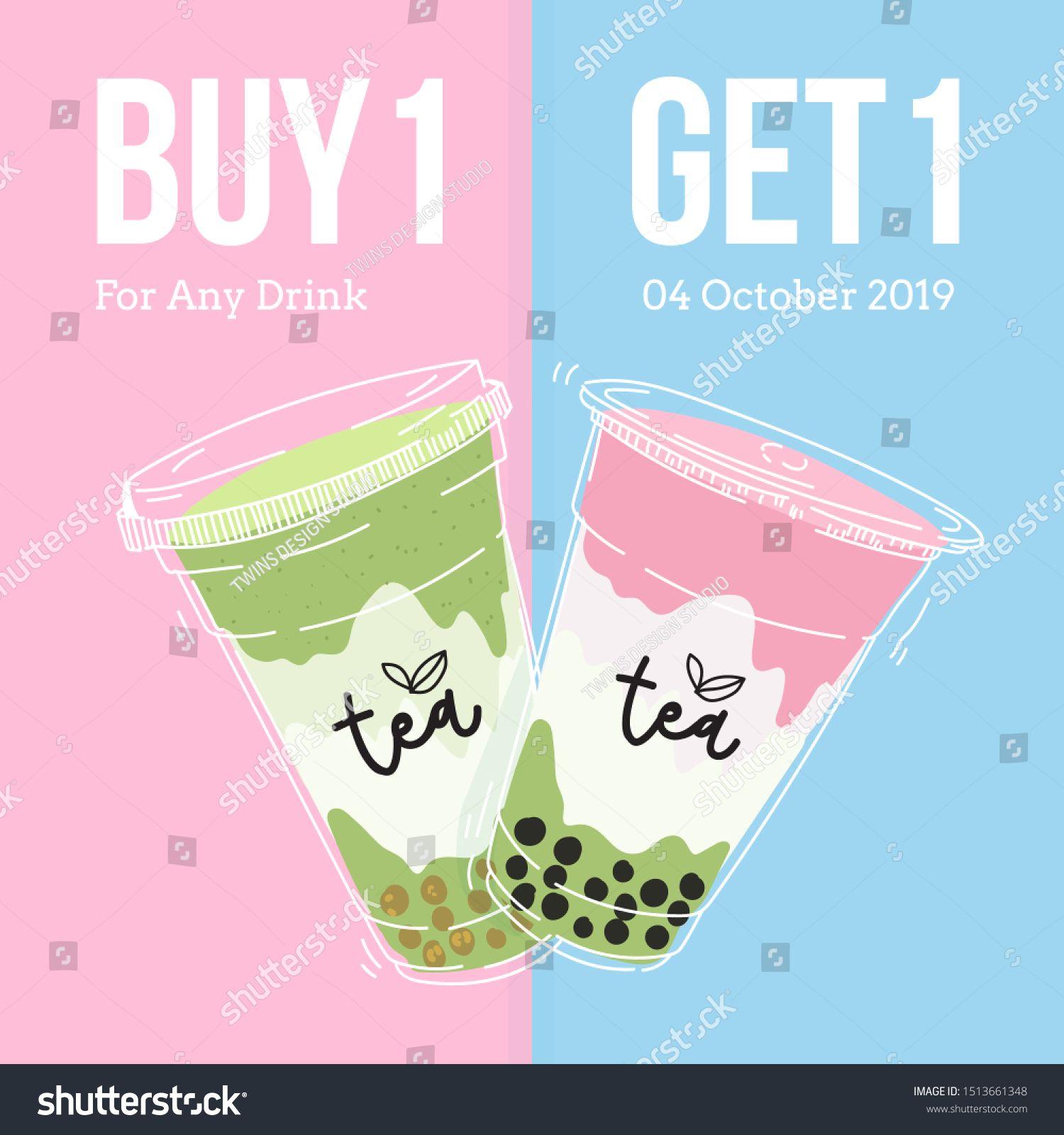 Bubble tea cup design collection,Pearl milk tea , Yummy