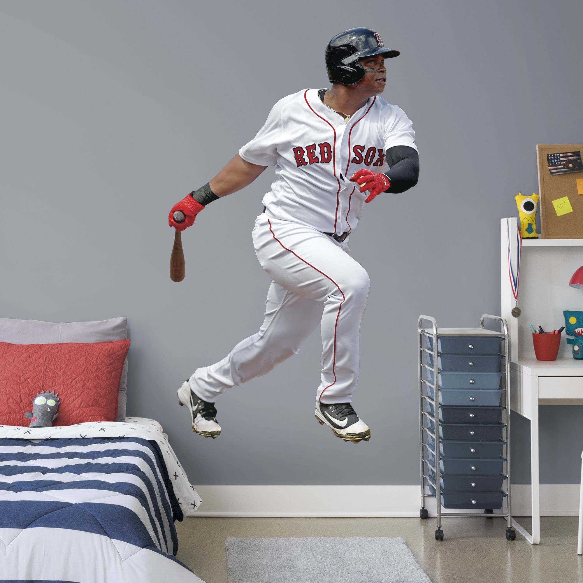 Rafael Devers Life Size Officially Licensed Mlb Removable Wall Decal Removable Wall Decals Wall Decals Removable Wall