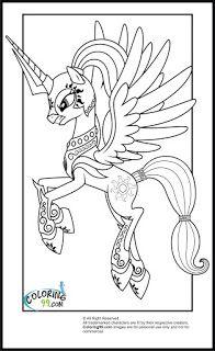 My Little Pony Princess Celestia Coloring Pages Team Colors Art