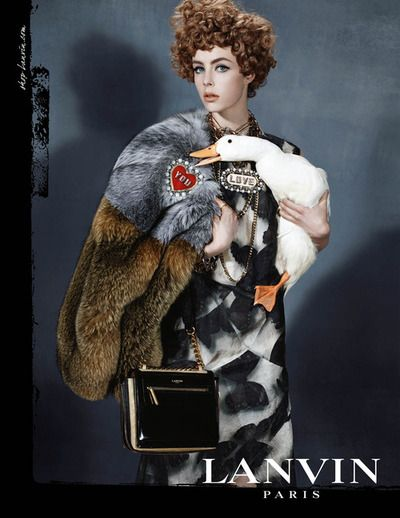 Edie Campbell by Steven Meisel for the Lanvin Fall 2013 Campaign