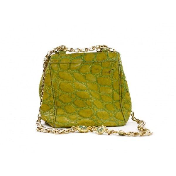 50abb316b0 Buy your green leather handbag GIANNI VERSACE on Vestiaire Collective