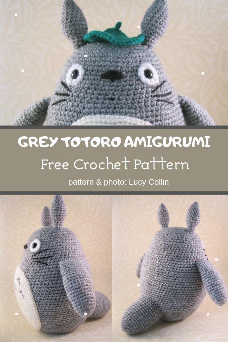 Grey Totoro Amigurumi Crochet Pattern ❤️ Mycrochetpattern