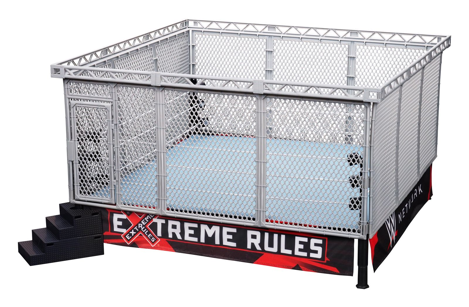 All In One Combo Wwe Authentic Scale Ring W Modern Day Steel Cage Accessory Toy Wrestling Action Figure Ring Playset Wwe Toys Wwe Figures Steel Cage