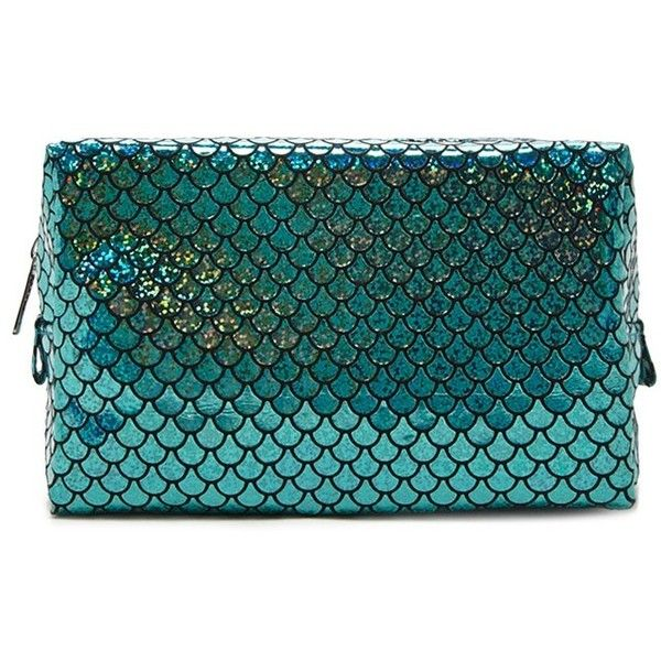 Forever21 Mermaid Scale Makeup Bag ($890) ❤ liked on Polyvore