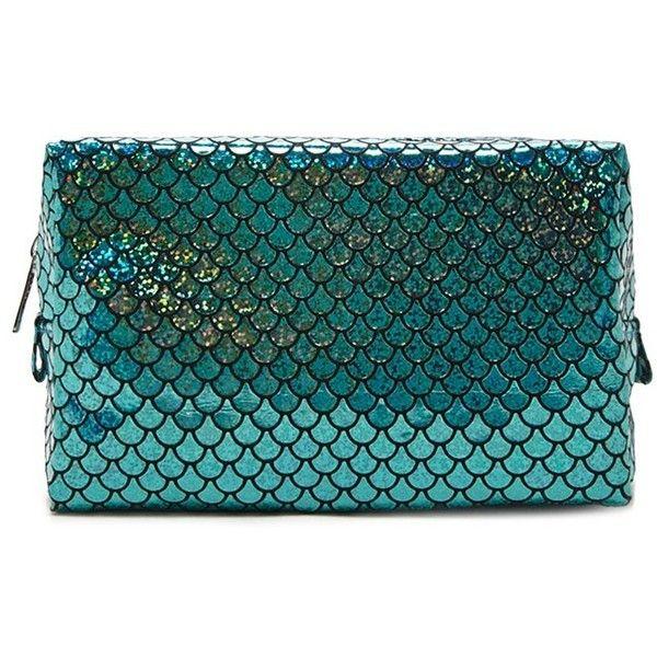 Forever21 Mermaid Scale Makeup Bag ($890) ❤ Liked On Polyvore   Plastik  Mobe Phantastisch