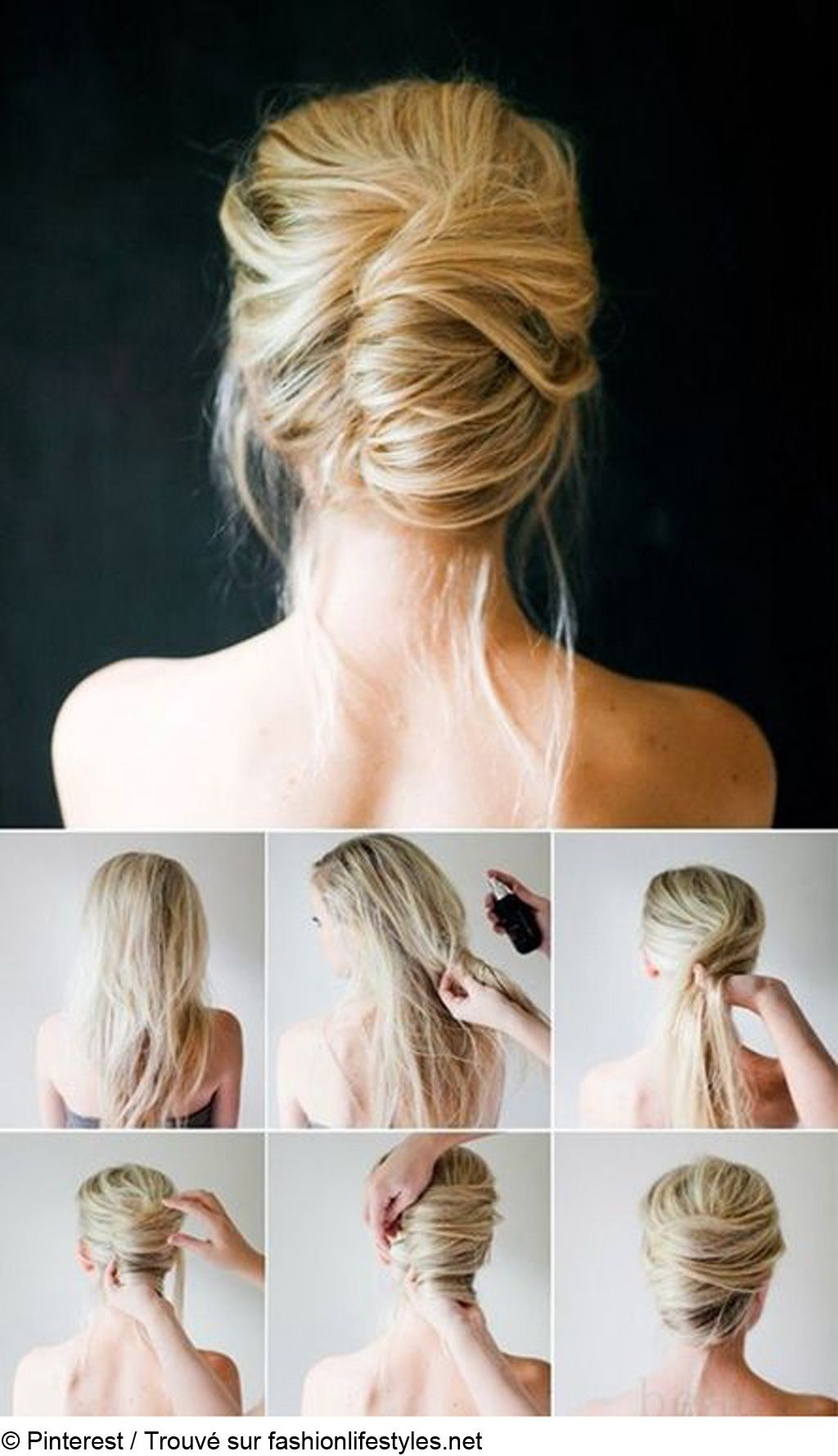 Faire un chignon flou cheveux long
