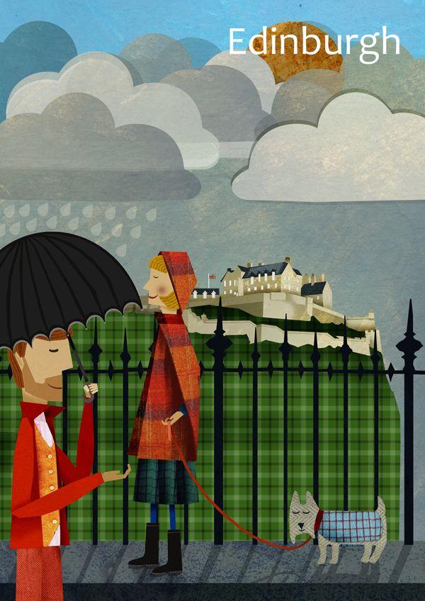 UK Forth Bridge Edinburgh 080 Vintage Travel Poster