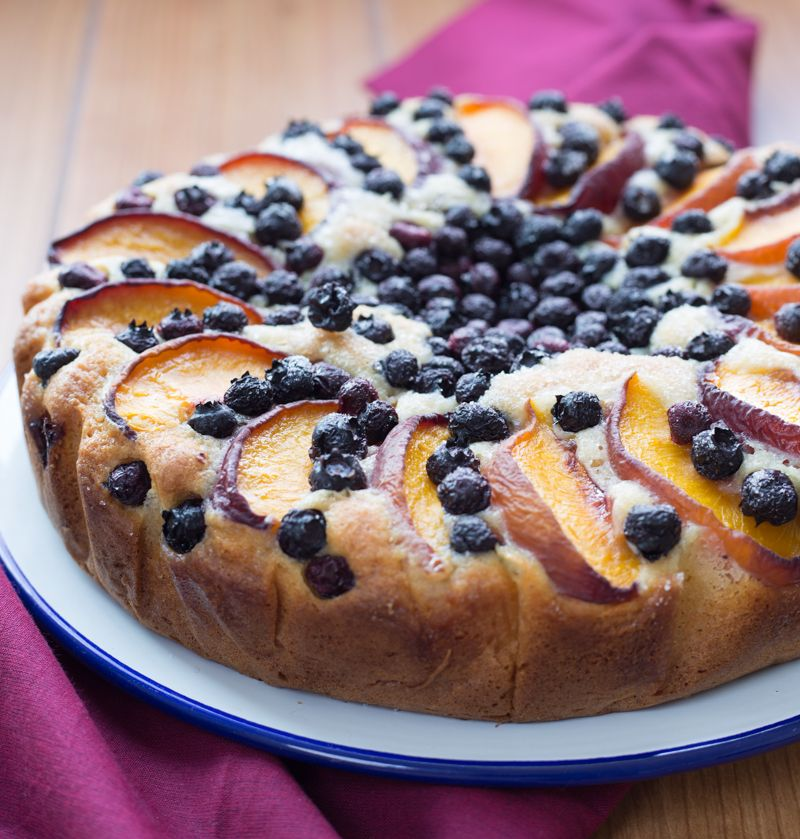 Peach and Blueberry Yogurt Cake – Stasty