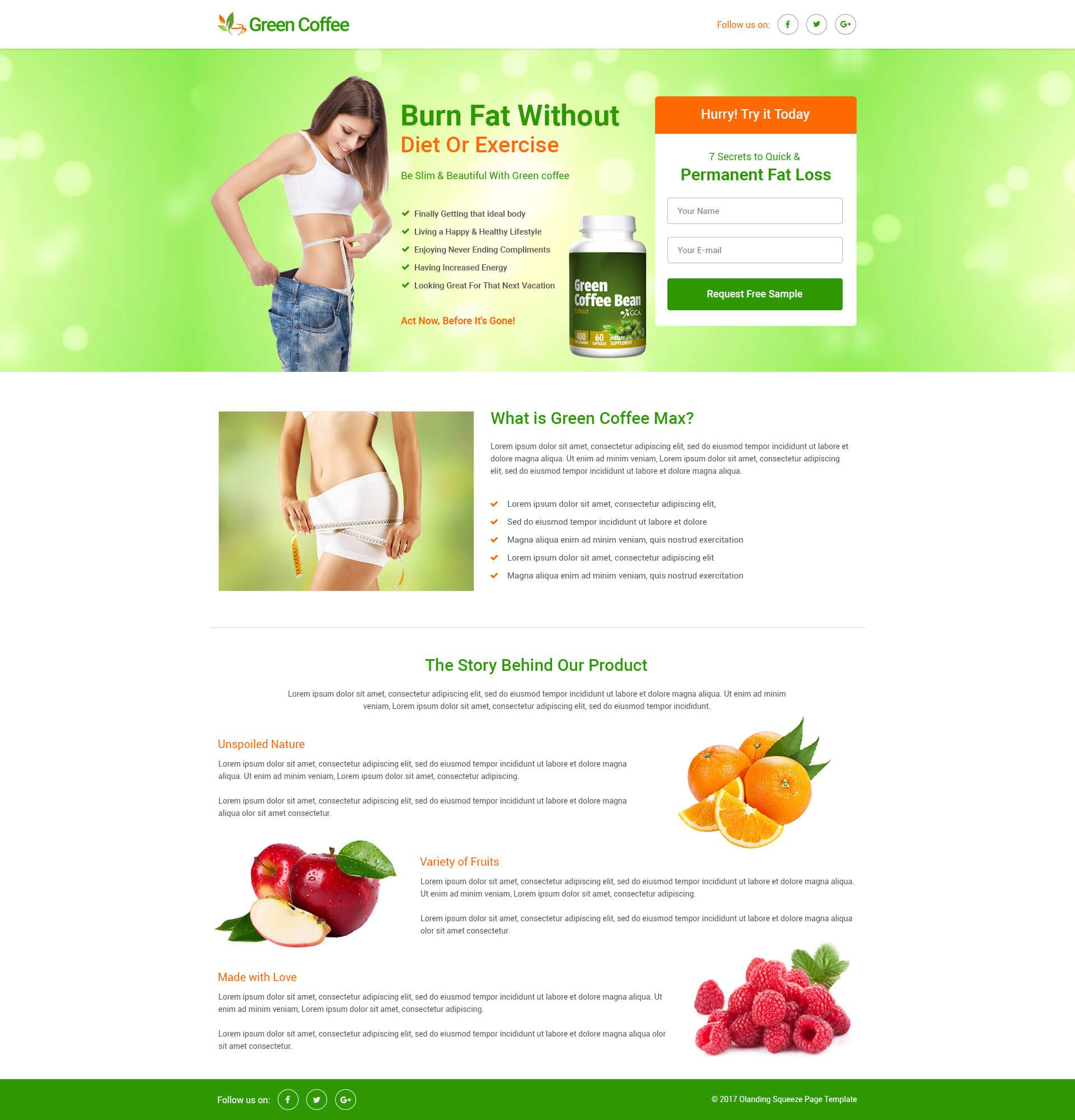 13 weight loss landing page templates & examples.