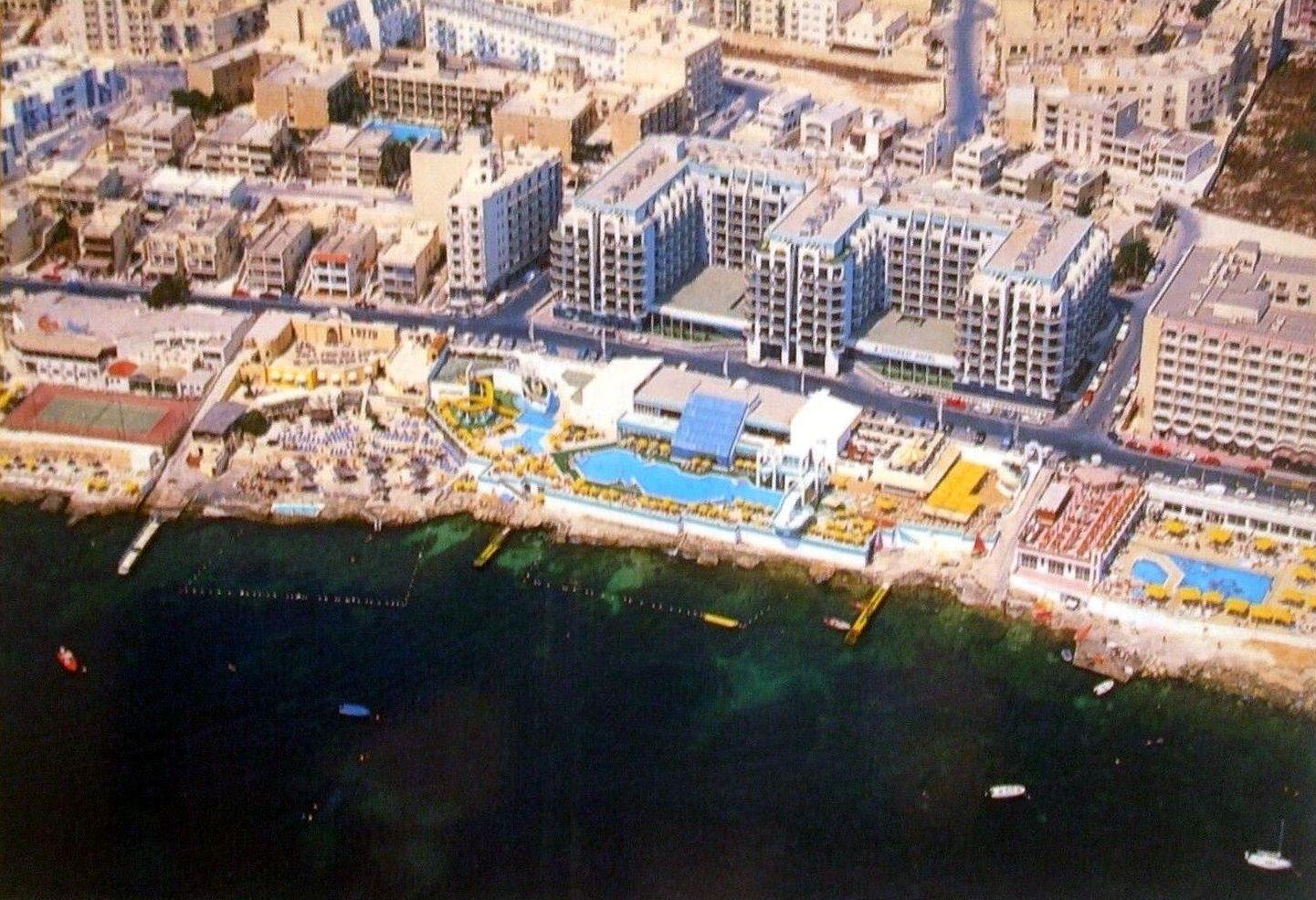 Postcard Qawra Seafront St Paul S Bay In 2020 Postcard Malta Bay