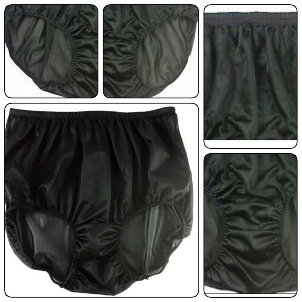 158fe04364ac Granny Panties Nylon Black Vintage Style Hi-Cuts Underwear Women Men Free  Size #fashion