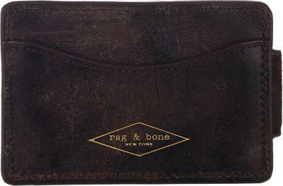 RAG & BONE Distressed Money Clip Card Case. #ragbone #bags #leather #