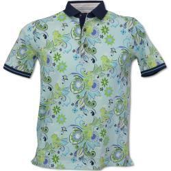 Polo shirts & polo shirts -  Polo shirt with a modern pattern, Aqua Carlo ColucciCarlo Colucci  - #amp #CelebrityStyle2018 #CelebrityStylemen #CelebrityStylenight #CelebrityStyleparty #Polo #shirts