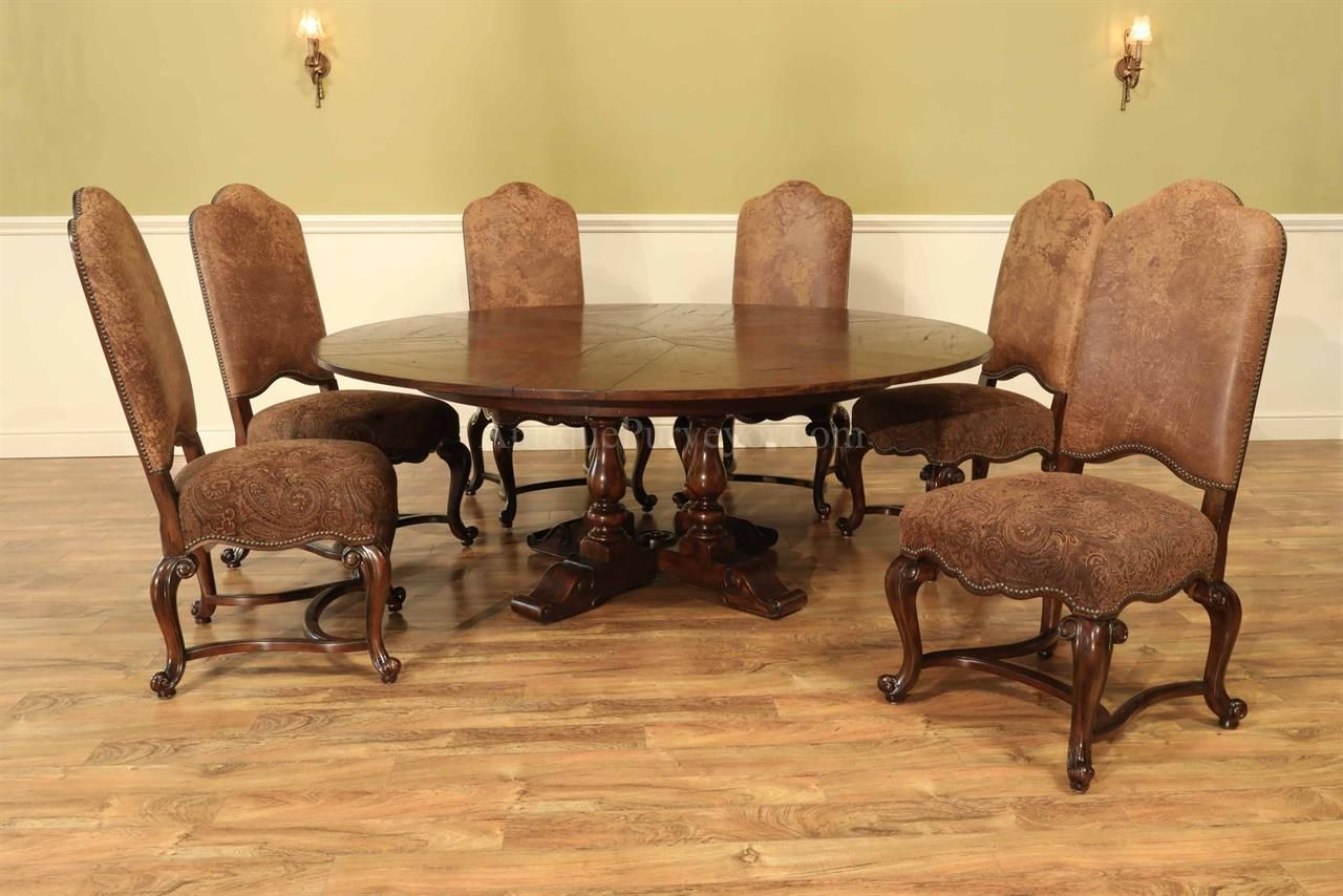 Rustic Round To Jupe Dining Table