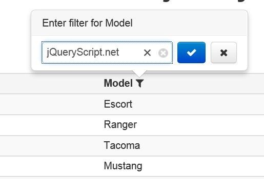Pretty Table Filter Plugin With Jquery And Bootstrap Filterable Jquery Plugins Pretty Tables