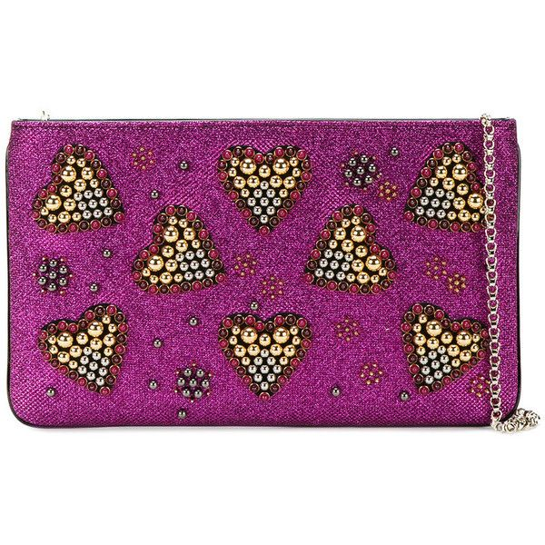 christian louboutin heart clutch