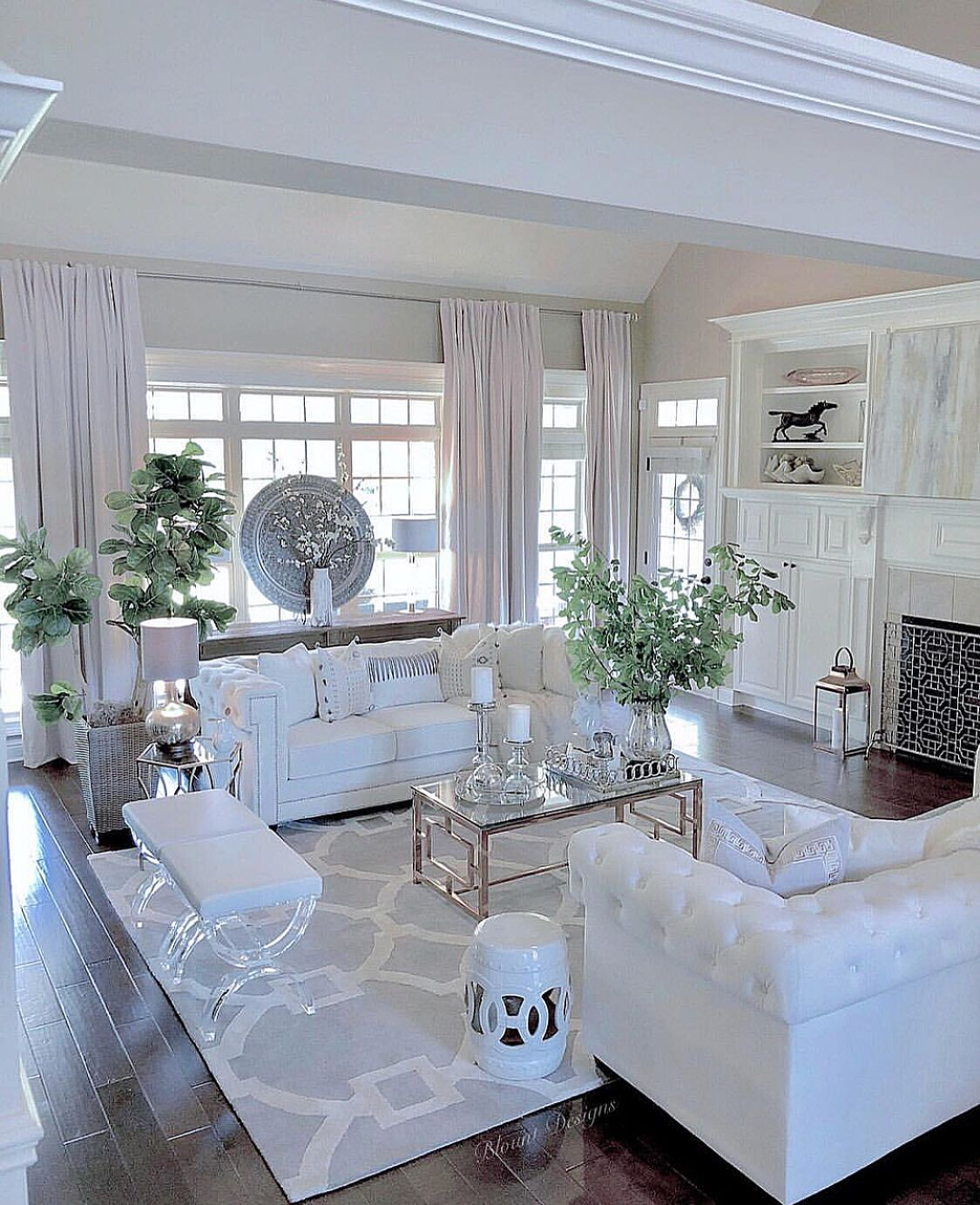 Beautiful Condo Living Rooms: White Visions In White In 2019