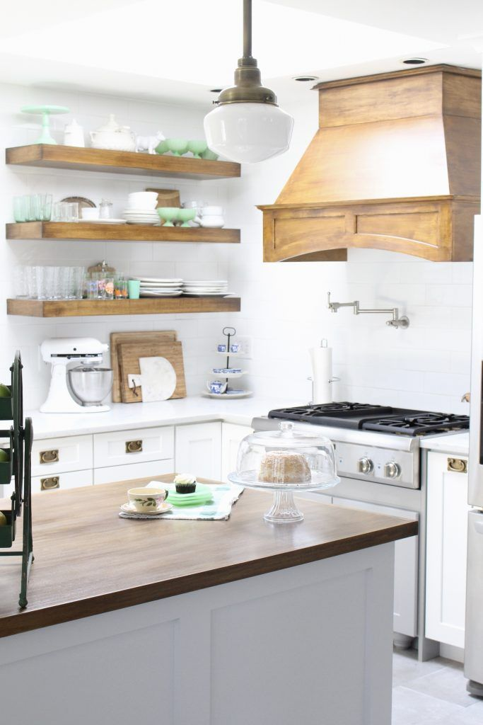 White Cottage Kitchen Renovation Reveal | Cottage kitchen renovation ...