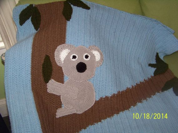 Hey, I found this really awesome Etsy listing at https://www.etsy.com/listing/207623920/large-childrens-koala-in-a-tree-blanket