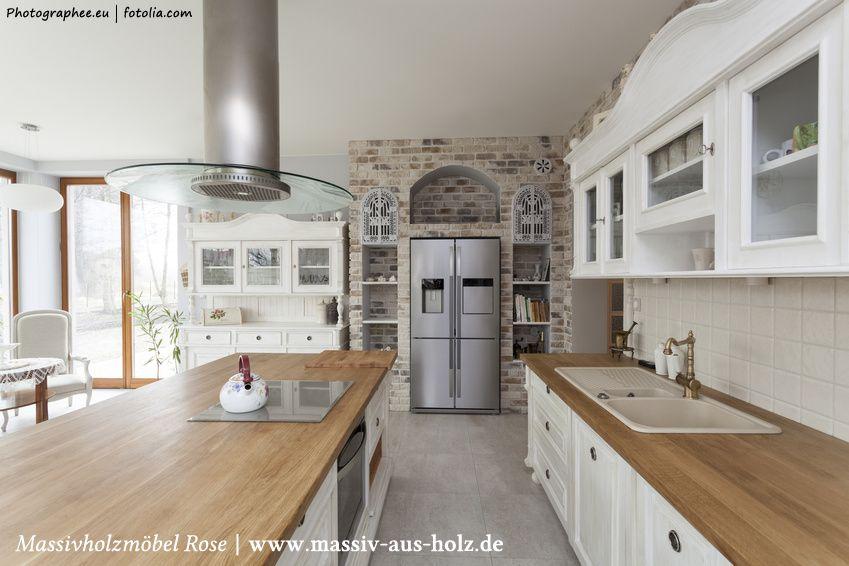 Eine kurze Homestory über moderne Landhausküchen   massiv-aus - küche landhaus weiß