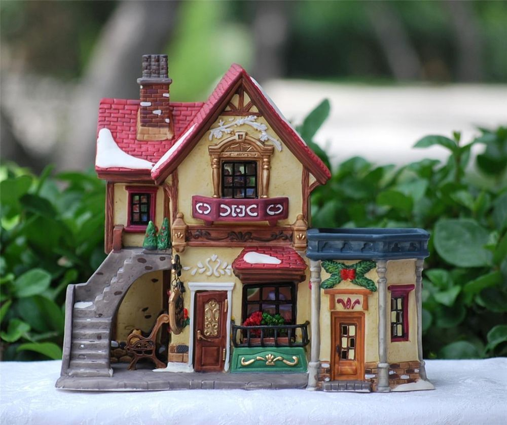 """Heartland Valley Village Lighted House: Heartland Valley Christmas Village """"NANNETTE'S MILLINERY"""